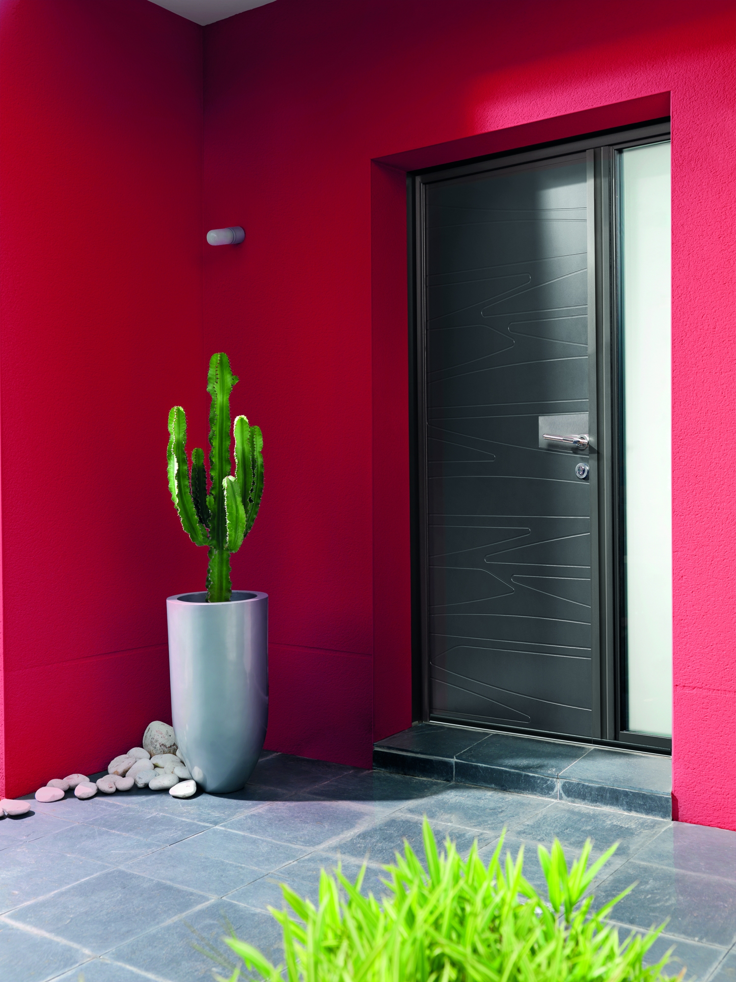 Pose De Porte Du0027entrée Aluminium K Line Sur Mesure Collection